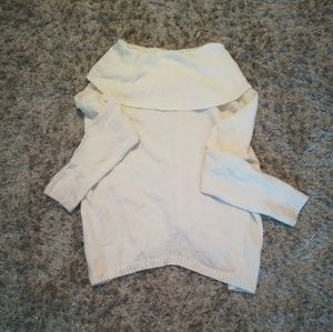 Express Cream Slouchy Sweater